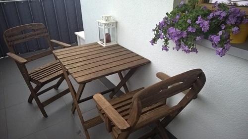 Składane meble balkonowe Warszawa