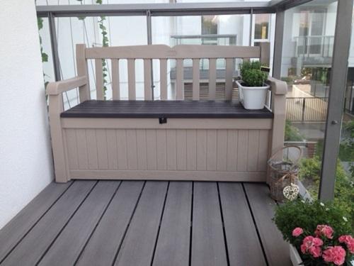 Ławka ogrodowa z tworzywa sztucznego ze skrzynią eden garden bench