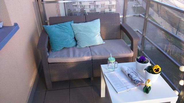 Meble na mały taras Curver Corfu Sofa Love Seat