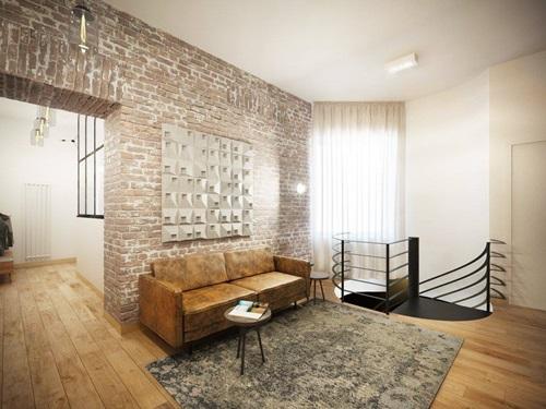 Mieszkanie udekorowane dekorami betonowymi 3D SLABB