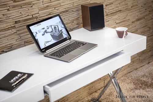 Nowoczesne biurko białe Zefir
