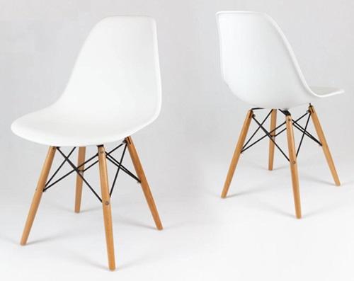 Eames Eiffel krzesło białe skandynawskie inspirowane KR012