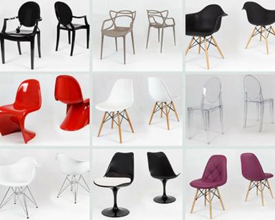 Designerskie krzesła do salonu inspirowane projektami światowych projektantów.
