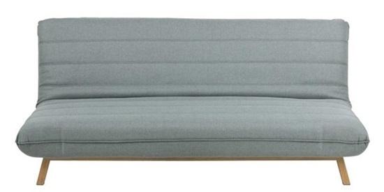 Actona Campania wygodna sofa na nóżkach rozkładana zielono szara