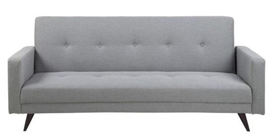 Actona Leconi stylowa sofa na nóżkach rozkładana jasnoszara