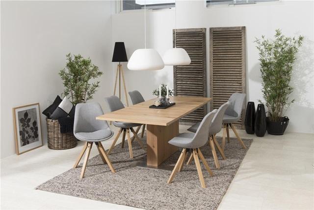 Nowoczesny stół z krzesłami do jadalni Brick i Dima