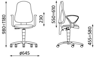 Ergonomiczny fotel biurowy Punkt Ergo Micro M43