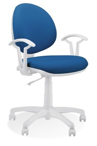 Smart White GTP27 obrotowy fotel biurowy niebieski