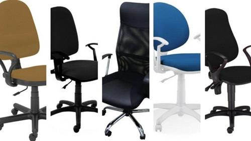 Krzesła biurowe za 200 zł - kolaż krzeseł obrotowych pojawiających się w przeglądzie modeli.