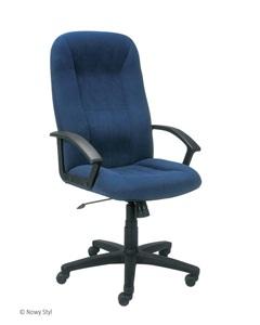 Wygodny fotel do biura niebieski Mefisto 2002