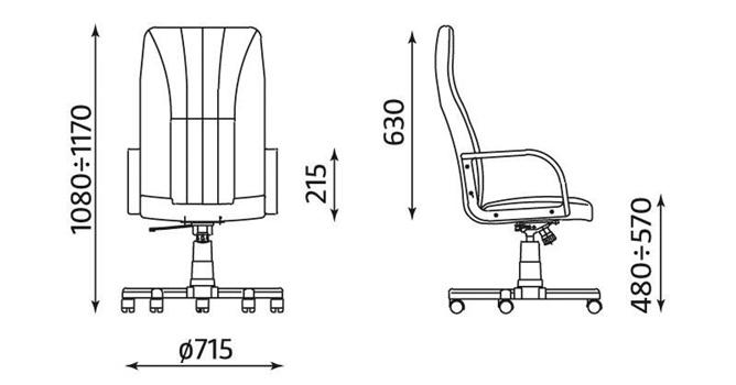 Wygodny fotel do biura czarny Mefisto 2002 wymiary