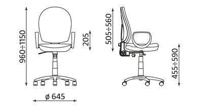 Krzesło obrotowe Mind gtp7 wymiary