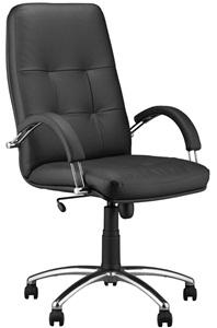 Fotel skórzany gabinetowy Zenit Steel