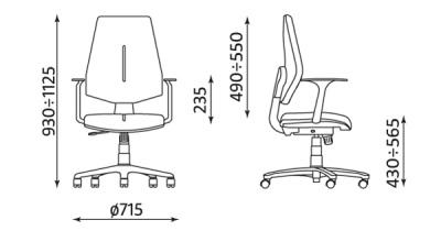 Krzesło GEM gtp46 ts06 wymiary