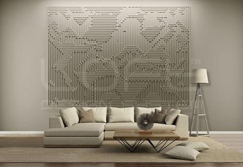 Panele ścienne do pokoju dziennego Mural Archetype - Loft Design System