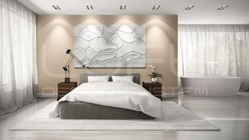 Panele ścienne do pokoju dziennego Mural Mougins - Loft Design System