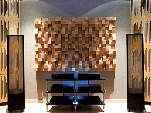 Panele dekoracyjne na ścianę Dyfuzor Panel Akustyczny Natural Wood Panels