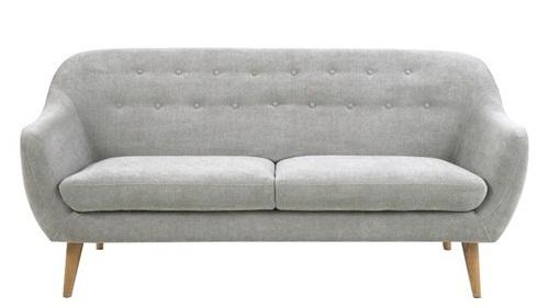 Actona Elly sofa skandynawska pikowana szara