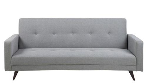 Actona Leconi stylowa sofa rozkładana jasnoszara