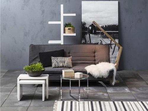 Actona Faith nowoczesna sofa rozkładana ciemnoszara