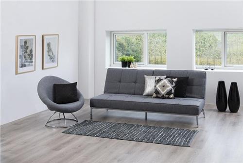Actona Perugia nowoczesna sofa rozkładana szara