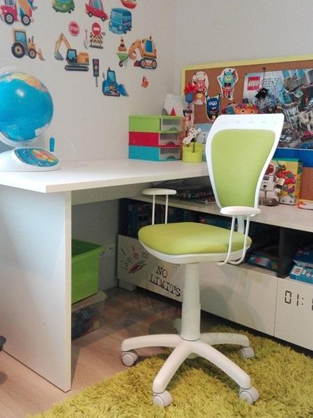 Krzesło Ministyle Line White GTP TS22 M38 fotel obrotowy dla dzieci
