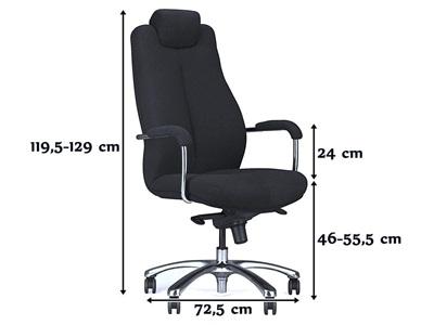 Fotel Sonata 24/7 - elegancki fotel biurowy wymiary