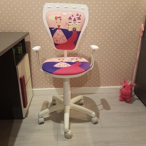 Fotel Ministyle White Cartoons GTP TS22 Princess krzesło do biurka dziecięce