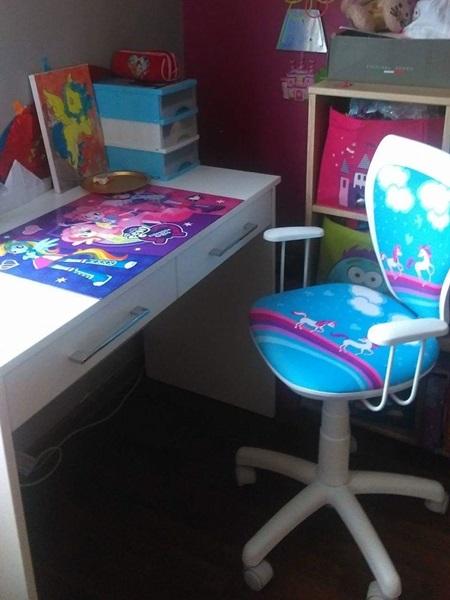 Krzesło Ministyle White Cartoons GTP TS22 Pony obrotowy fotel dziecięcy