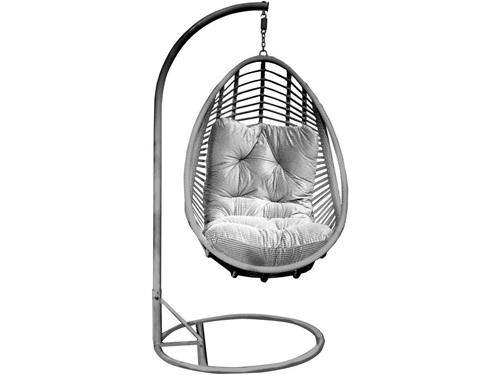 Leżak fotel ogrodowy bujany z technorattanu Bellissimo