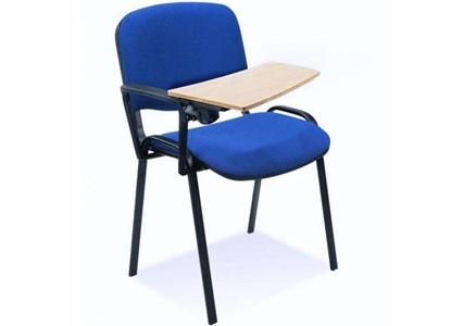 Krzesło ISO z pulpitem ze sklejki