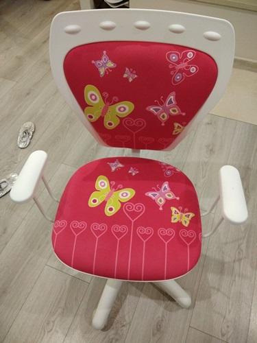 Fotel Ministyle White Cartoons GTP TS22 Butterfly małe krzesło biurowe