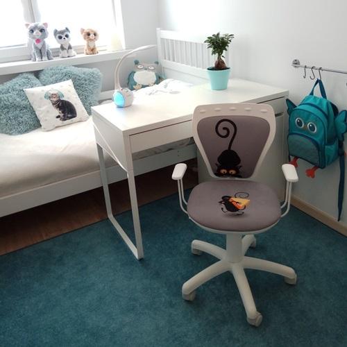 Krzesło dla dzieci fotel Ministyle White Cartoons Line GTP TS22 Kot i Mysz