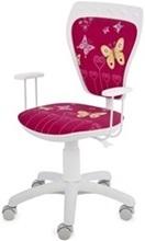 Małe krzesło biurowe fotel Ministyle White Cartoons GTP TS22 Butterfly