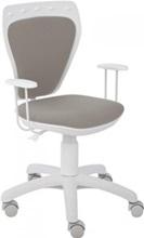 Szare krzesło obrotowe dla dzieci fotel Ministyle Line White GTP TS22 M47
