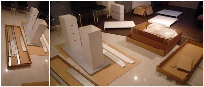 Montaż stołu do salonu Linosa 2