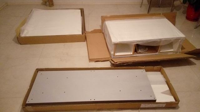 Stół Linosa 2 paczki z częściami