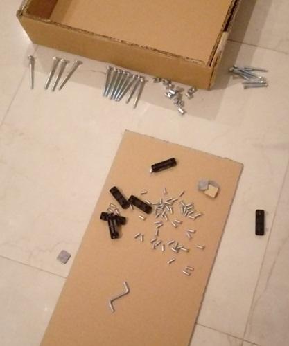 elementy do montażu stołu Linosa 2