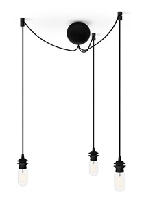 Zawiesie linkowe do lamp Cannonball Black Cluster 3