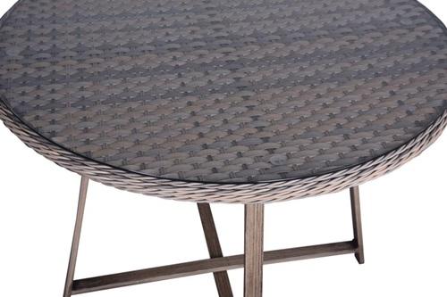 stół okrągły z technorattanu