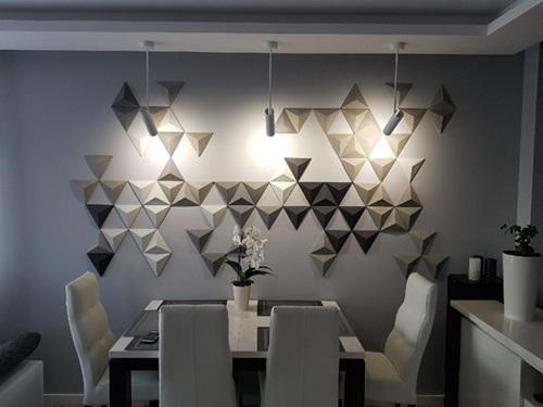 Dekory betonowe SLABB w części jadalnianej kuchni
