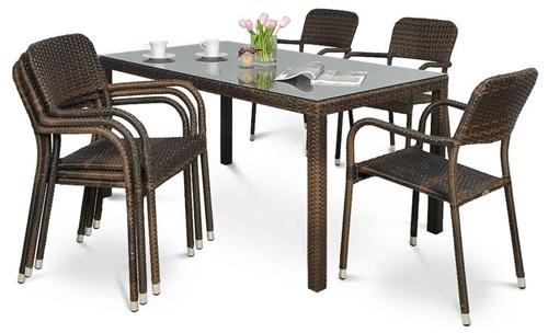Krzesło technorattan Optima ze stołem Venecja