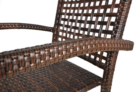 Krzesło technorattanowe Roca z ażurowym oparciem