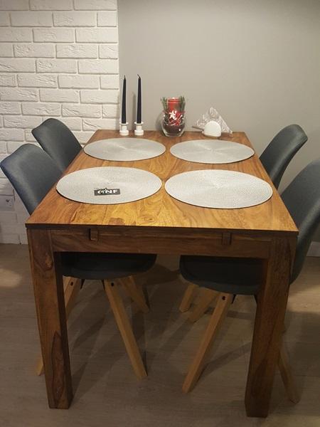 Krzesła Actona Dima w uroczej aranżacji jadalni pani Joanny