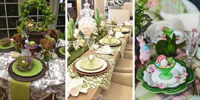 Wielkanocny stół dekoracje