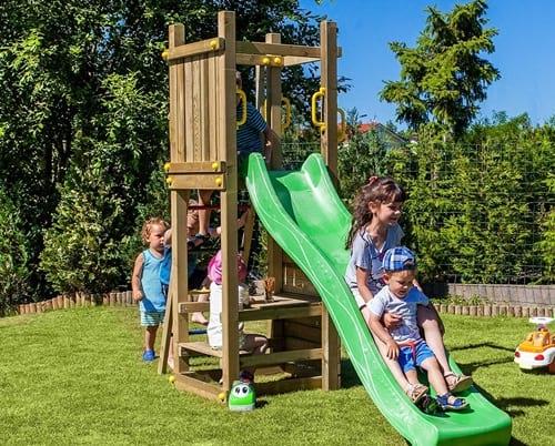Plac zabaw do ogrodu z drewna Fungoo Funny 3 piknik