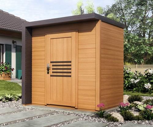domek narzędziowy drewniany projekt Bratek 2x2