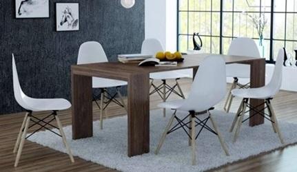Stół biurko 2w1 Lille rozkładane Vintage Marine Wood