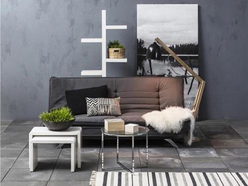 Actona Faith nowoczesna sofa rozkładana jasnoszara