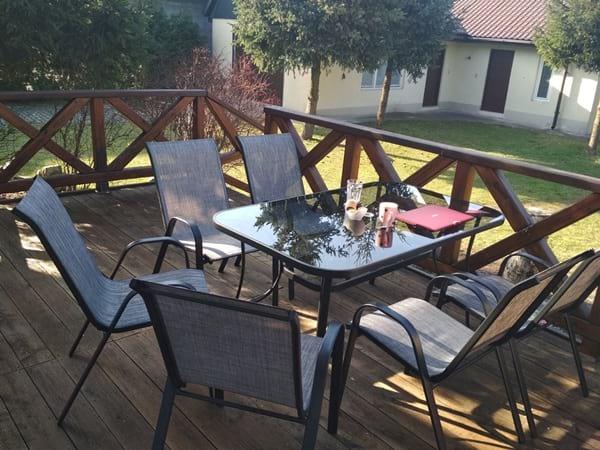 Krzesła i stół ogrodowy Bologna